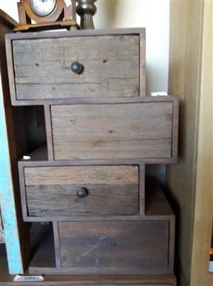 4 Drawer Solid Wood Cabinet