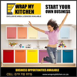 Start your Own Business with Wrap my Kitchen's Exclusive area based Licences. Low Entry Cost