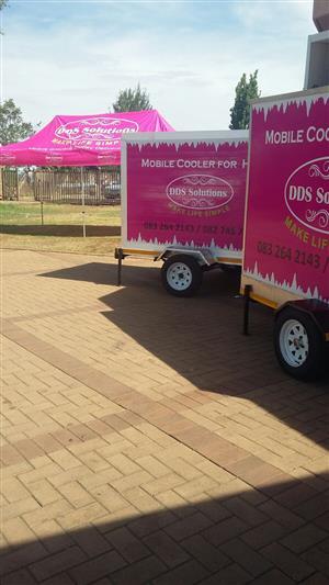 Mobile fridge for hire in Pretoria