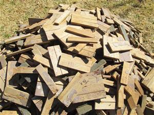 Timber, blocks / tiles, cuts, about 1 cubic meter, floor tiling, carpentry, design, art, woodwork