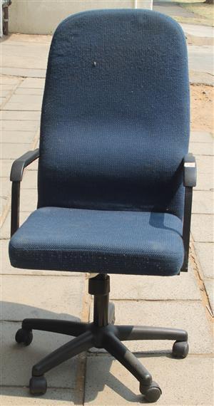 Navy office chair S030954C #Rosettenvillepawnshop