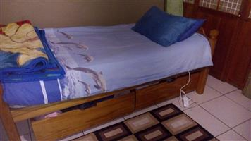 Two Oak Bunk Beds plus mattress for sale