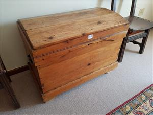 Large vintage wooden chest