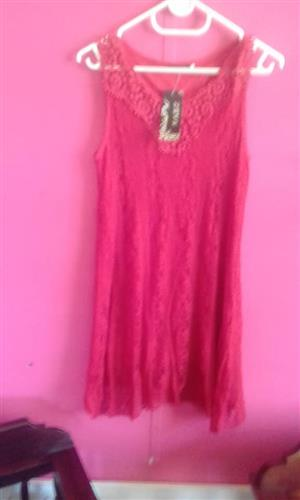 Pink lace pajama dress for sale