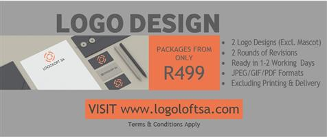 LOGO DESIGN / CORPORATE STATIONERY / PRINTING - PACKAGES FROM R499