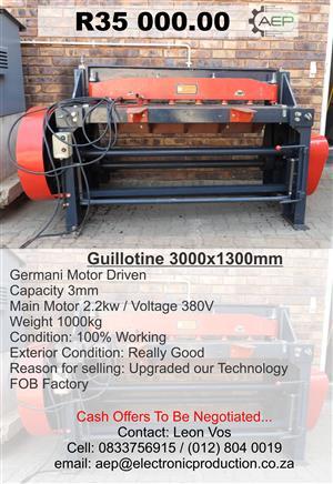 Germani Guillotine Cutter  3000x1300mm