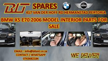 BMW X5 E70 2006 MODEL INTERIOR PARTS FOR SALE