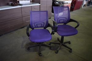 Purple office chairs with wheels for sale