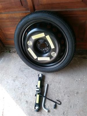 Audi Q7 Original 18 inch Space Master Spare Wheel with Collapsible Tyre used Once R7500