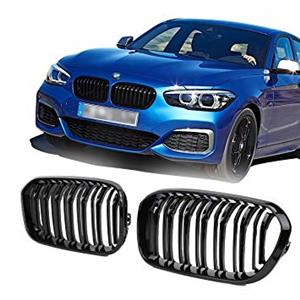 BMW 1 Series (F20 LCI Models) Front Double Slat Grilles - Gloss Black