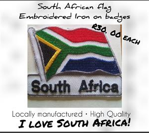 South African Flag - Pins, Badges, Magnets