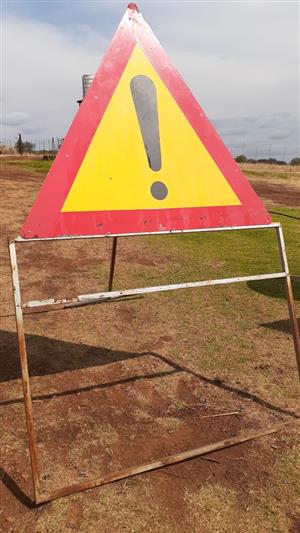 Road signs on stands for road maintenance and construction for Sale!
