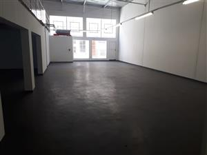 Spacious warehouse retail shop, ideal for material shop, or furniture set in central Edenvale CBD