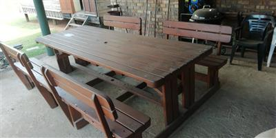 Wooden Picnic table 10x seater