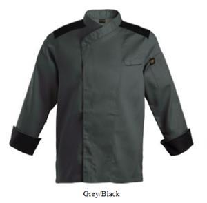 Roma Chef Jacket - Grey-Black