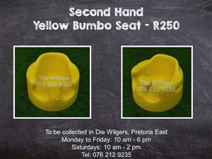 Second Hand Yellow Bumbo Seat