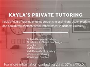 Are you seeking a reliable tutor ?