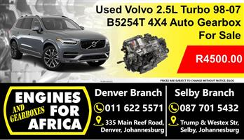 Used Volvo 5254T 2.5L Auto 4x4 Gearbox For Sale