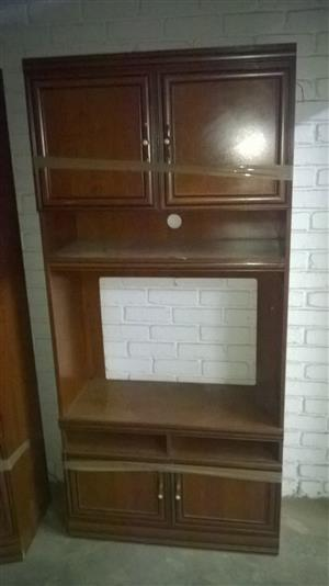 FOR SALE - THREE DARL OAK WALL UNITS