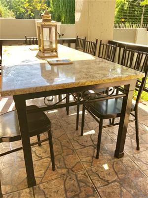 Patio Tables - 10 seater tables with granite top