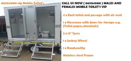 A VIP Toilet's (pty )ltd  and single - mobile toilet's Hire r890 and sales r33100