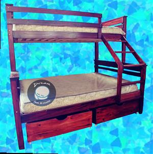 FREE DELIVERY*! Wood Tribunk Bunk Bed with MATTRESSES