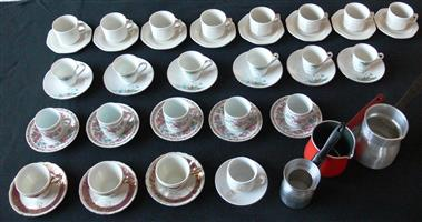 TURKISH COFFEE CUPS AND POTS
