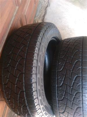 Two 6.10mm tread 255/55/19 Pirelli Scorpion Tyres  R14500 each R2900 for both tyres