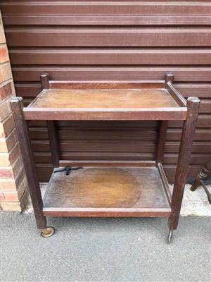 Old wooden serving trolley for sale