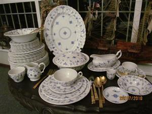 FINLANDIA Myott Full Dinner & Tea Set for 8 Place Setting - Made in England- 94 items