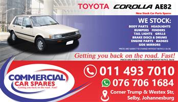 Toyota Corolla AE82 spares and parts for sale