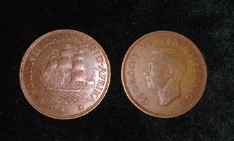 OLD RARE SA 1946 1/2d COIN