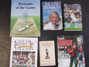Cricket Books  X 6 - in good condition