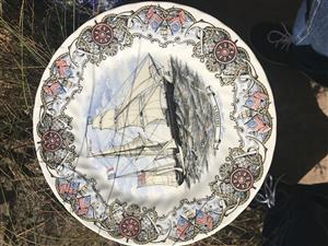 Collection of 12 Churchill tall ship plates