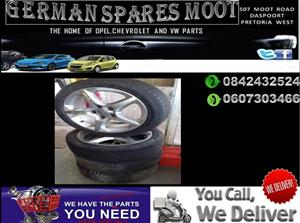 OPEL CORSA D TYRES AND RIMS SET FOR SALE.