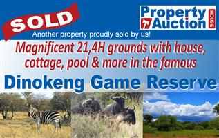 SOLD ON AUCTION! Magnificent 21,4H Plot in Dinokeng Game Reserve!