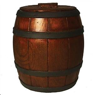 Ice Bucket: Glossy Plain Barrel Design. Brand New Product.