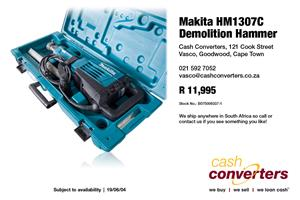 Makita HM1307C Demolition Hammer