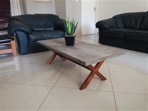 Brand new rustic modern concrete coffee table