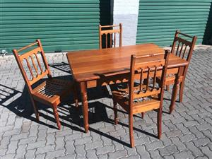 Oregon Pine Dining table and 4 chairs