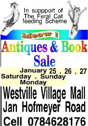 Books & Antiques  sale    Westville Village Market Shopping Centre Westville    25   26   27   Janu