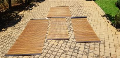 Fine Mesh Wooden/ bamboo roller blinds