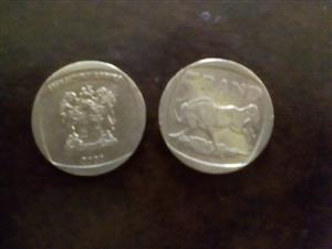 Old silver R5 coins