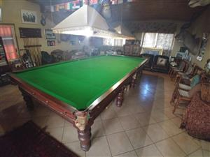 FULL SIZE CHAMPIONSHIP SNOOKER TABLE FOR SALE