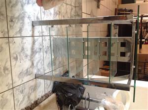 Glass/Steel 5 shelve divider
