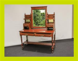 Victorian Mahogany Dressing Table - SKU 727