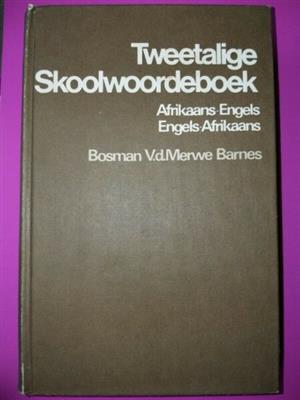 Tweetalige Skoolwoordeboek - Bosman - Vd Merwe - Barnes - REF: 3319.