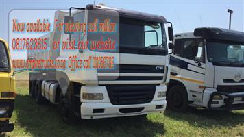 DAF 10cube tipper truck on sale