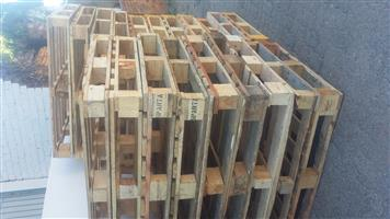 Wooden pallets we make and supply