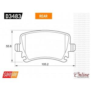 Audi Genuine brake pads part no D3483